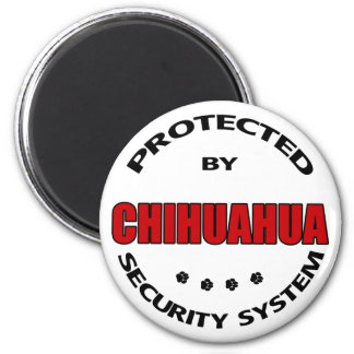 Chihuahua Dog Security 2 Inch Round Magnet