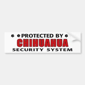 Chihuahua Dog Security Car Bumper Sticker