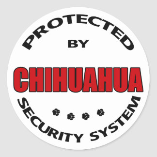 Chihuahua Dog Security Classic Round Sticker