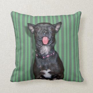 Chihuahua Dog Tongue Throw Pillows