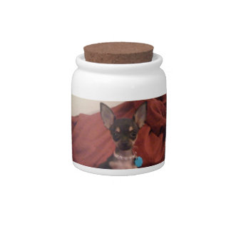Chihuahua Dog Treat Candy Jar