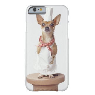 Chihuahua dog wearing chef's whites, studio shot barely there iPhone 6 case