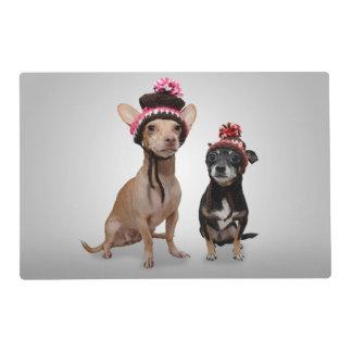 Chihuahua Dogs With Hats Photo Placemat