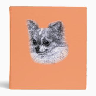 Chihuahua Drawing 3 Ring Binder
