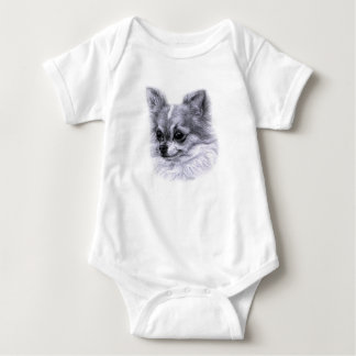 Chihuahua Drawing Baby Bodysuit