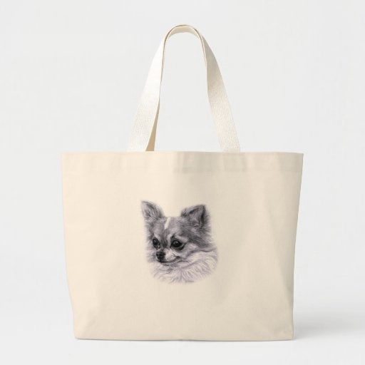 Chihuahua Drawing Canvas Bags