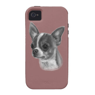 Chihuahua Drawing Vibe iPhone 4 Cases