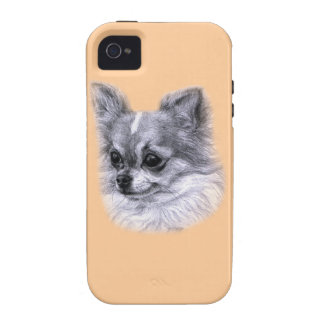 Chihuahua Drawing iPhone 4/4S Cases