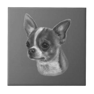 Chihuahua Drawing Ceramic Tile