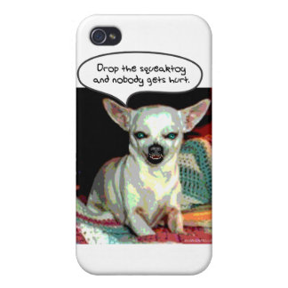 Chihuahua - Drop the Squeaktoy iPhone 4 Cases