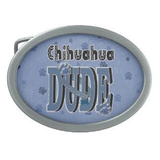 Chihuahua DUDE Oval Belt Buckle