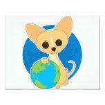 Chihuahua Earth Day 4.25x5.5 Paper Invitation Card