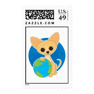 Chihuahua Earth Day Postage Stamp