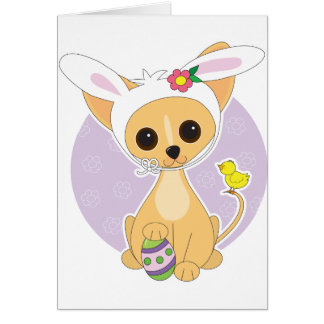 Chihuahua Easter Card
