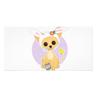 Chihuahua Easter Picture Card
