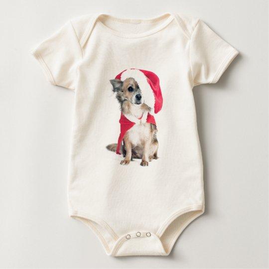 Chihuahua en la Weihnachtskostüm Body Para Bebé
