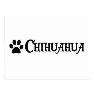 Chihuahua estilo del pirata con el pawprint tarjeta postal