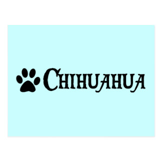 Chihuahua estilo del pirata con el pawprint postales