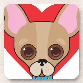 Chihuahua Face Beverage Coaster