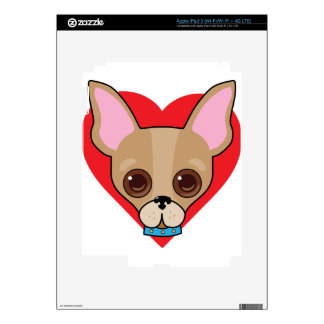 Chihuahua Face Decal For iPad 3