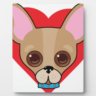 Chihuahua Face Plaque