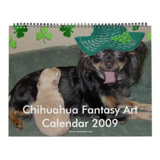 Chihuahua Fantasy Art Calendar 2009