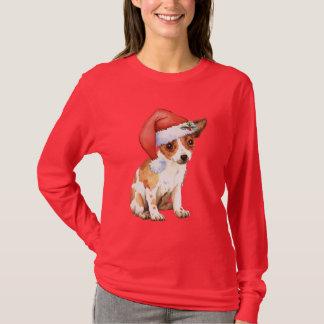 Chihuahua feliz de Howliday Playera