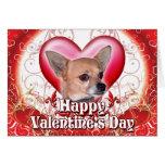 Chihuahua feliz del día de San Valentín Tarjeta De Felicitación