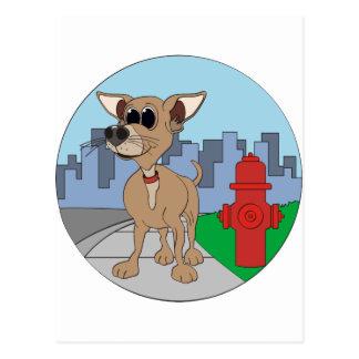 Chihuahua Fire Hydrant Postcard