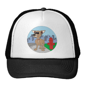 Chihuahua Fire Hydrant Trucker Hat