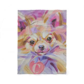 Chihuahua fleece blanket