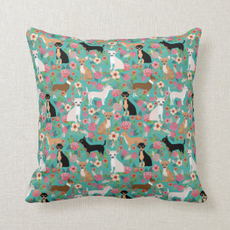 Chihuahua Florals Pillow - cute dog decor