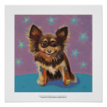 Chihuahua - fun colorful cute original painting poster