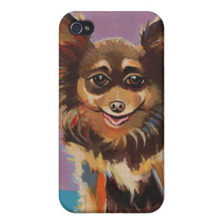 Chihuahua fun colorful happy original painting art iPhone 4 cases