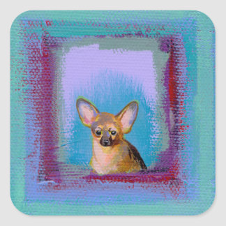 Chihuahua fun cute little toy dogs unique art stickers