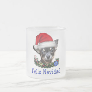 Chihuahua gifts frosted glass coffee mug