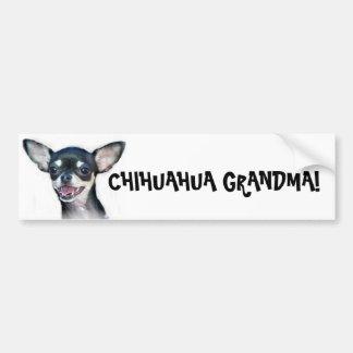 Chihuahua Grandma bumper sticker