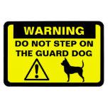 Chihuahua Guard Dog Warning Rectangular Photo Magnet