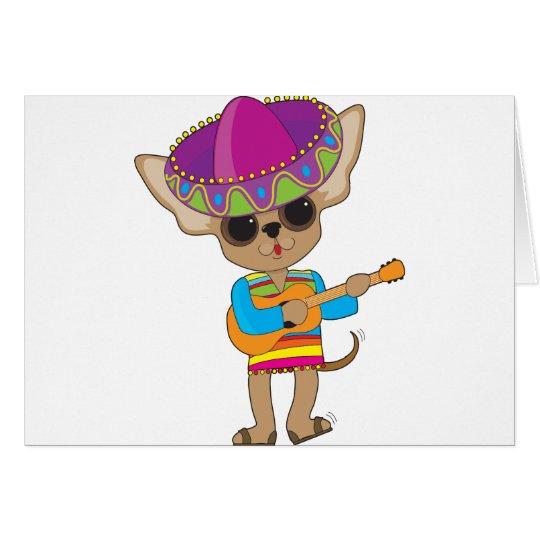 Chihuahua Guitar Card