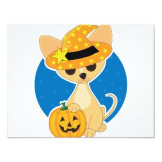 Chihuahua Halloween 4.25x5.5 Paper Invitation Card