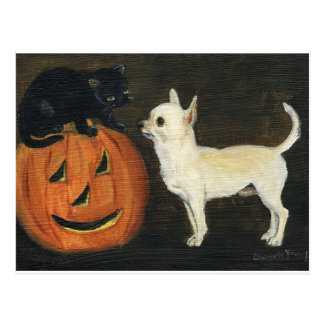 """Chihuahua Halloween"" Dog Art Postcard"