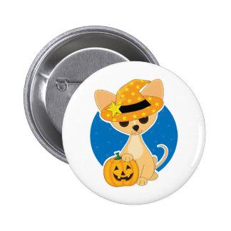 Chihuahua Halloween Pinback Button