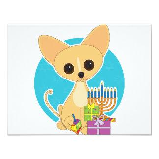 Chihuahua Hanukkah 4.25x5.5 Paper Invitation Card