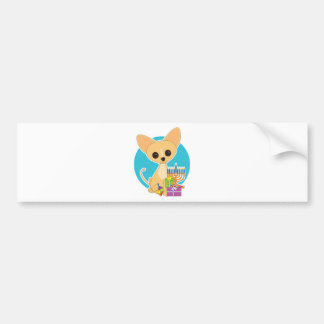 Chihuahua Hanukkah Bumper Sticker