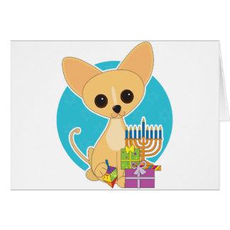 Chihuahua Hanukkah Greeting Card