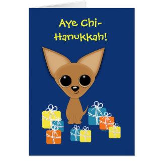 Chihuahua Hanukkah Presents Margarita Humor Card