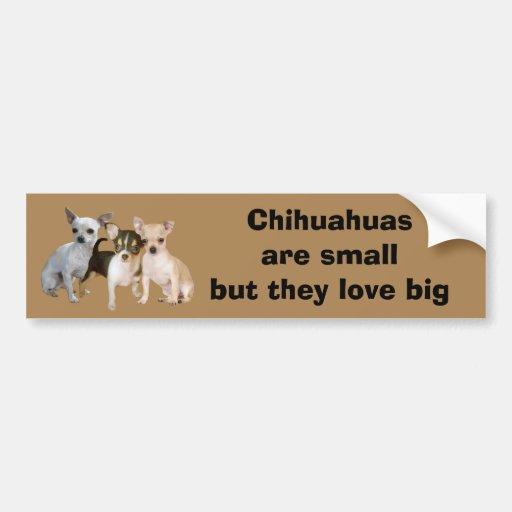 Chihuahua Happy Trio Bumper Sticker