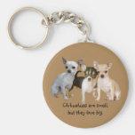 Chihuahua Happy Trio Keychain