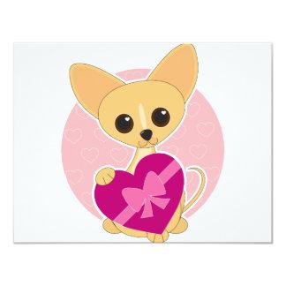 Chihuahua Heart 4.25x5.5 Paper Invitation Card