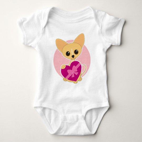 Chihuahua Heart Baby Bodysuit